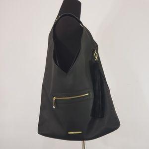 Steve Madden Boho Shoulder Studded Black Leather